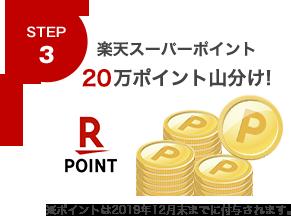 STEP3楽天スーパーポイント 20万ポイント山分け!